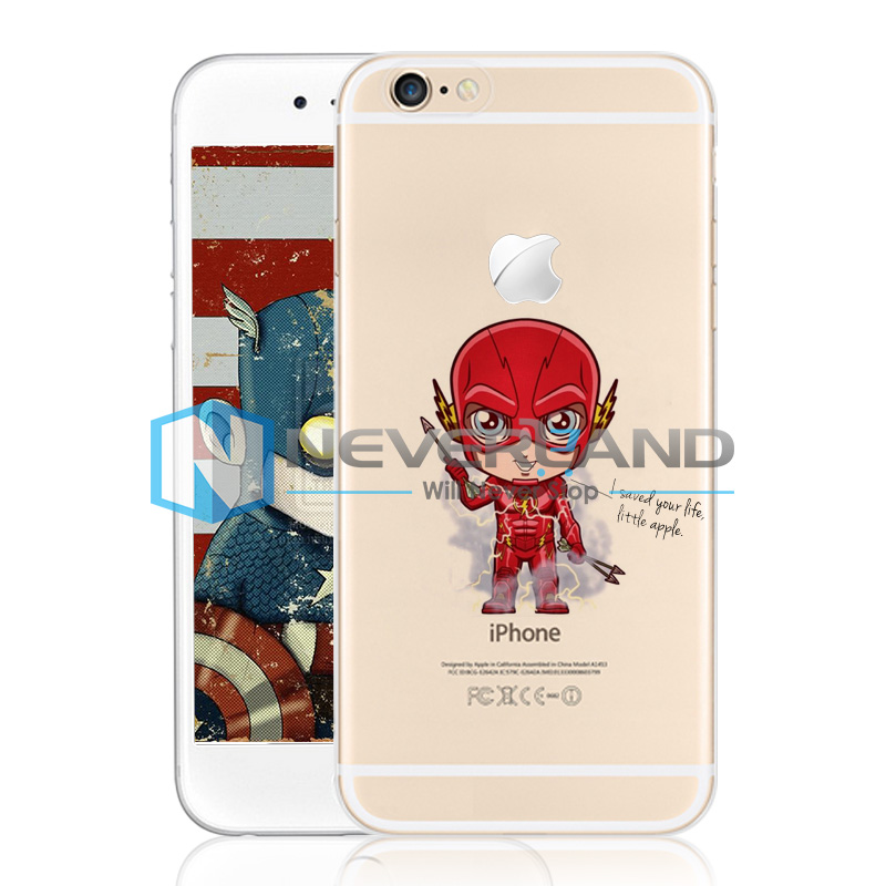 TPU/PC Super Hero Funda De Carcasa Case Cover Skin Piel Para iPhone 4/5/6 Plus