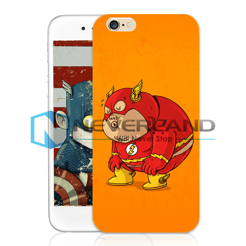 Catoon Fat Hero Funda De Carcasa Case Cover Skin Piel Para iPhone 4/5/6 Plus