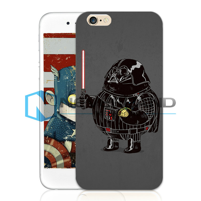 Kuso Cartoon Character Custodia Case Cover Per iPhone 4/5/6 Plus Samsung S3/4/5