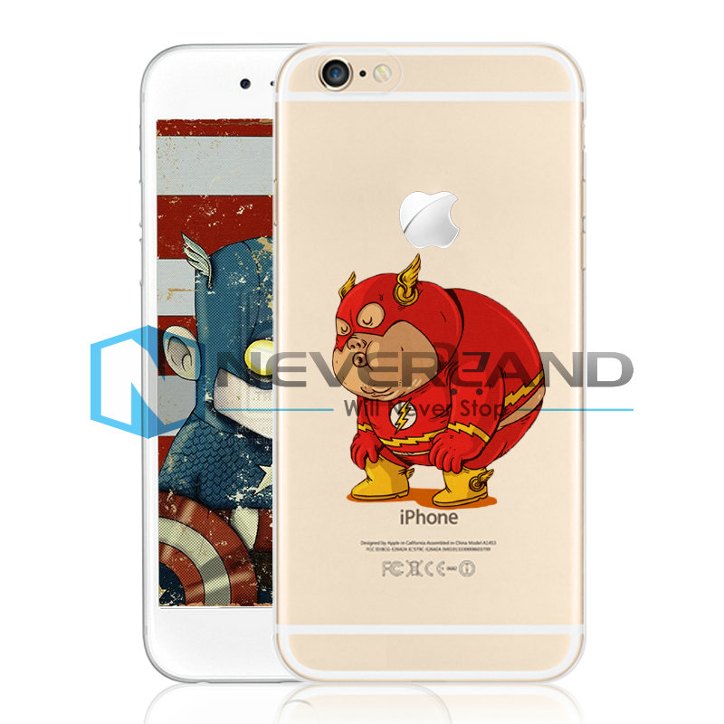 Funny Marvel Super Hero Coque Housse Etui Pochette Case Cover Pour iPhone 4/5/6