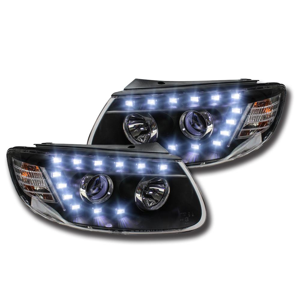 2004 2005 2006 2007 2008 Acura Tl Led Drl Light Strips For: 2X LED Projector Headlights Fog Light Bi Xenon Lens For