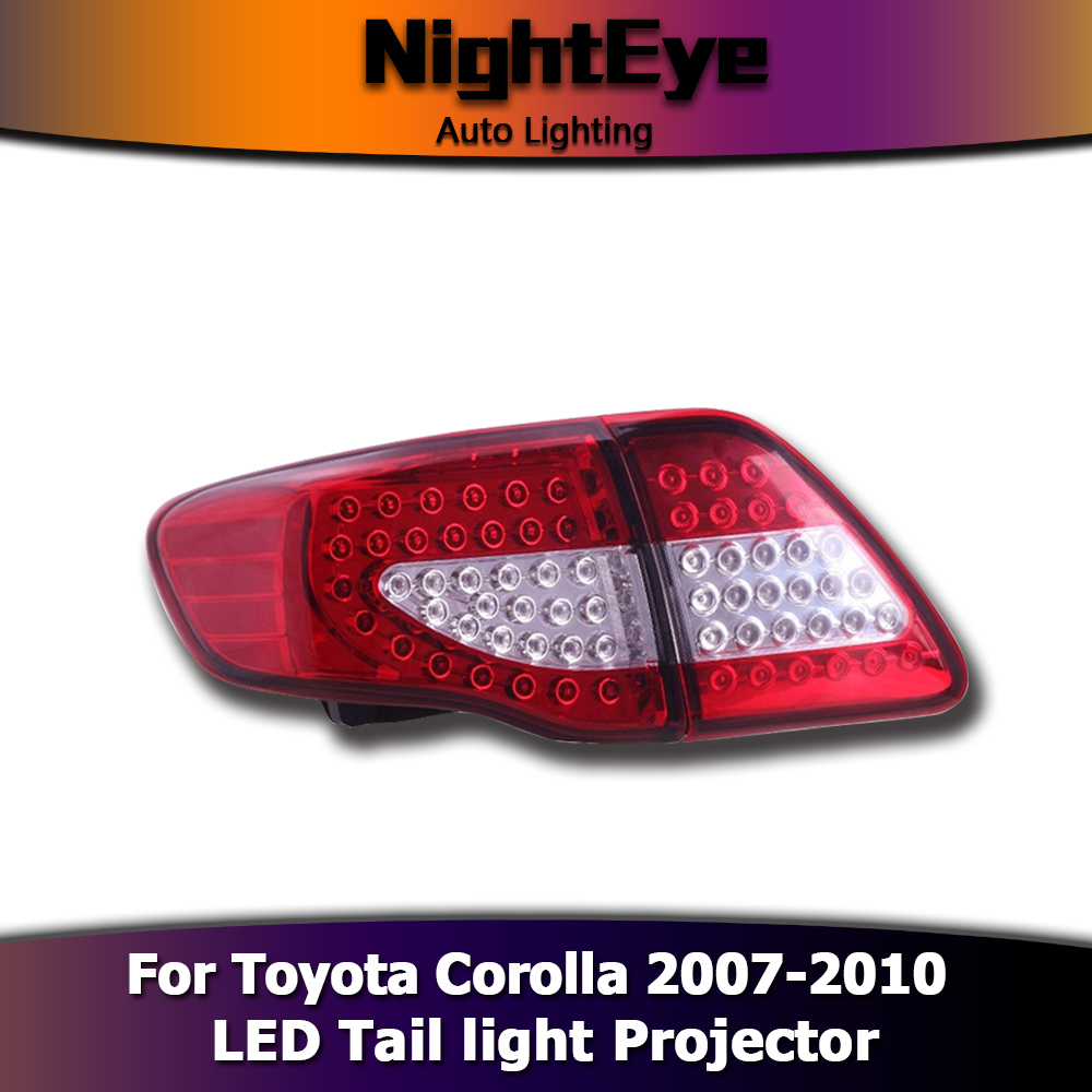 2001 Toyota Corolla Tail Lights: Pair Car LED Tail Lights Brake Stop Rear Lamp Smoke For