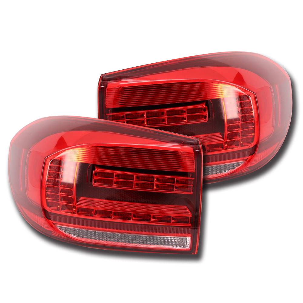 Car Led Tail Lights Brake Rear Lamp Turn Signal Smoke For