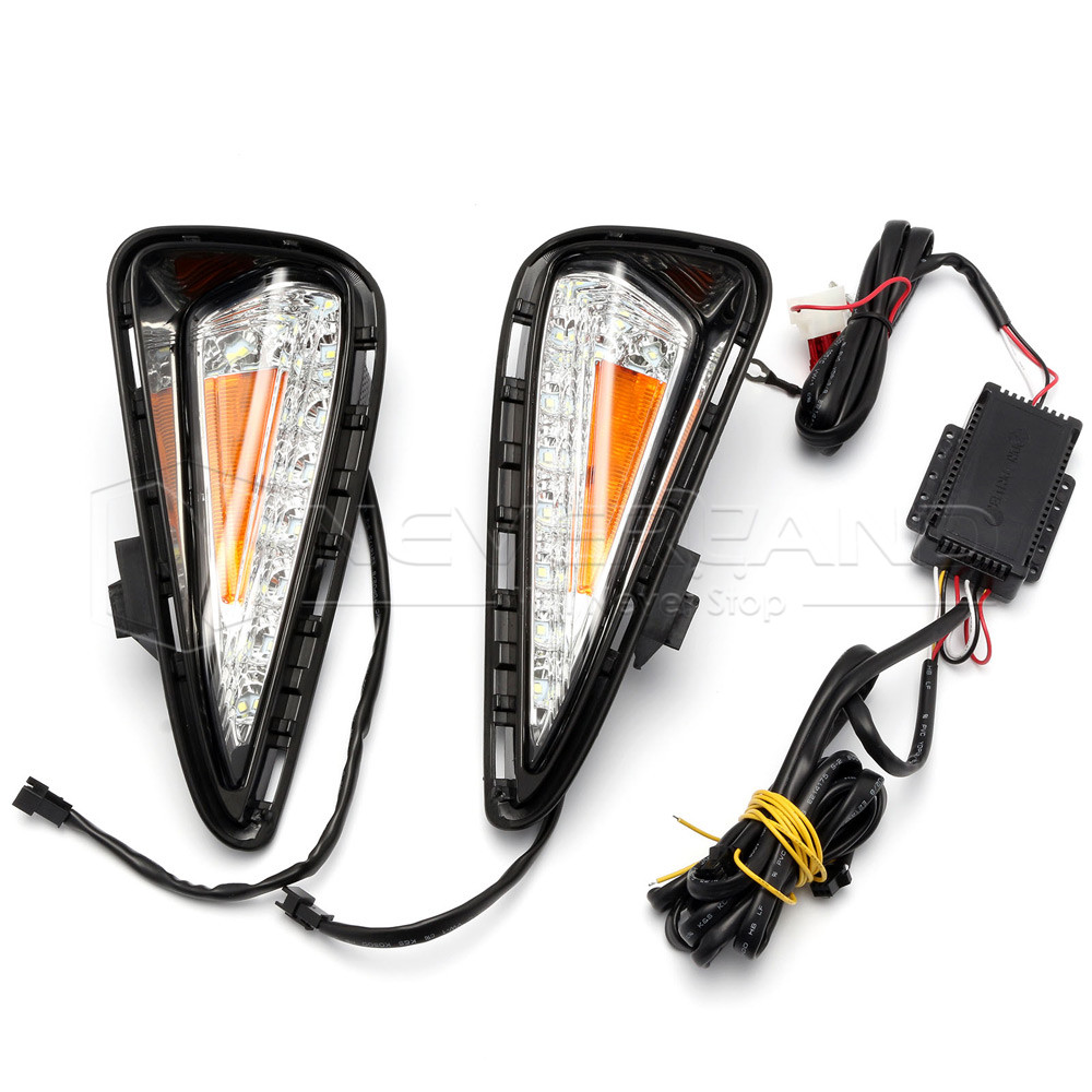 2x led daytime running light drl driving turn signal for. Black Bedroom Furniture Sets. Home Design Ideas