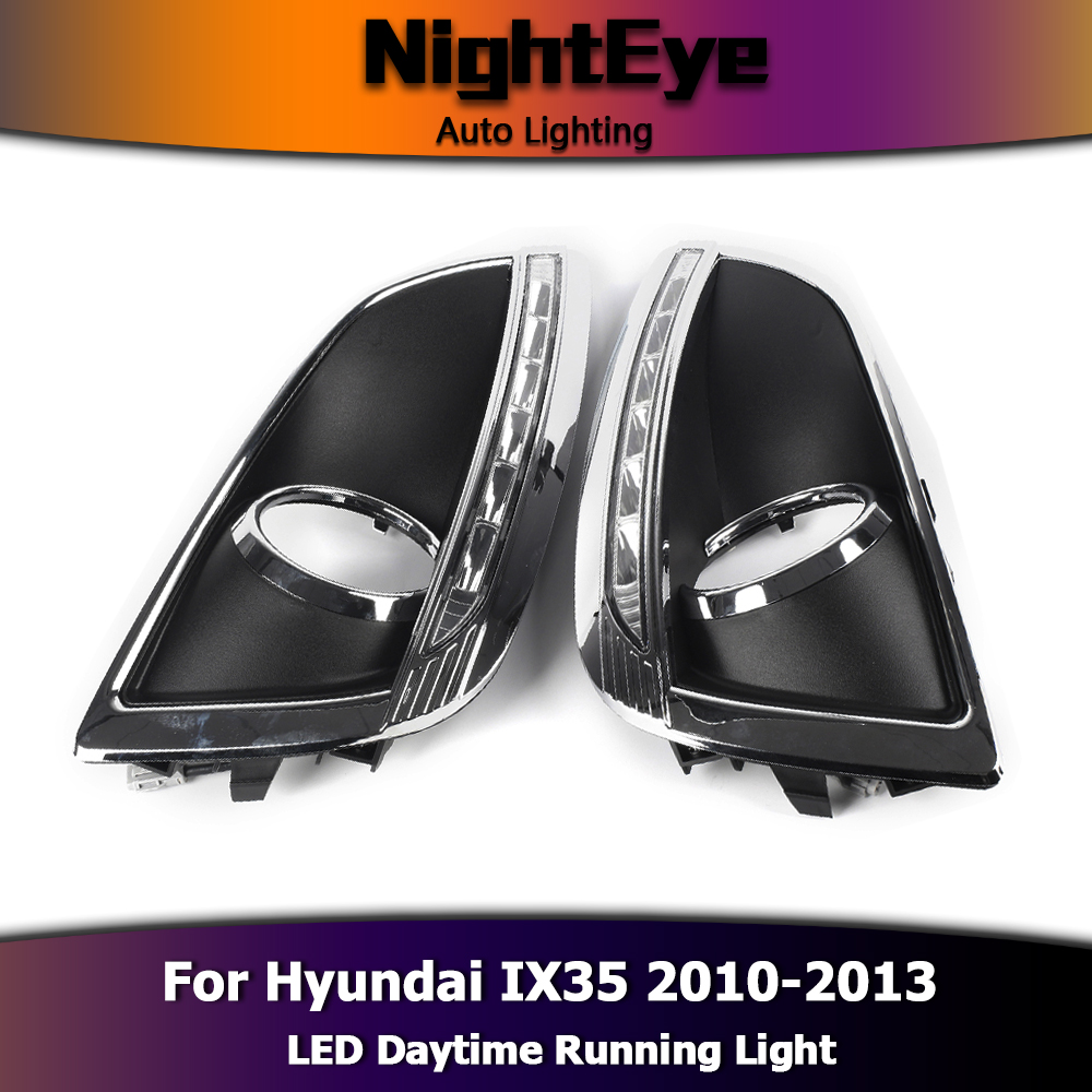 2x auto led tagfahrlicht led drl wei f r hyundai ix35. Black Bedroom Furniture Sets. Home Design Ideas