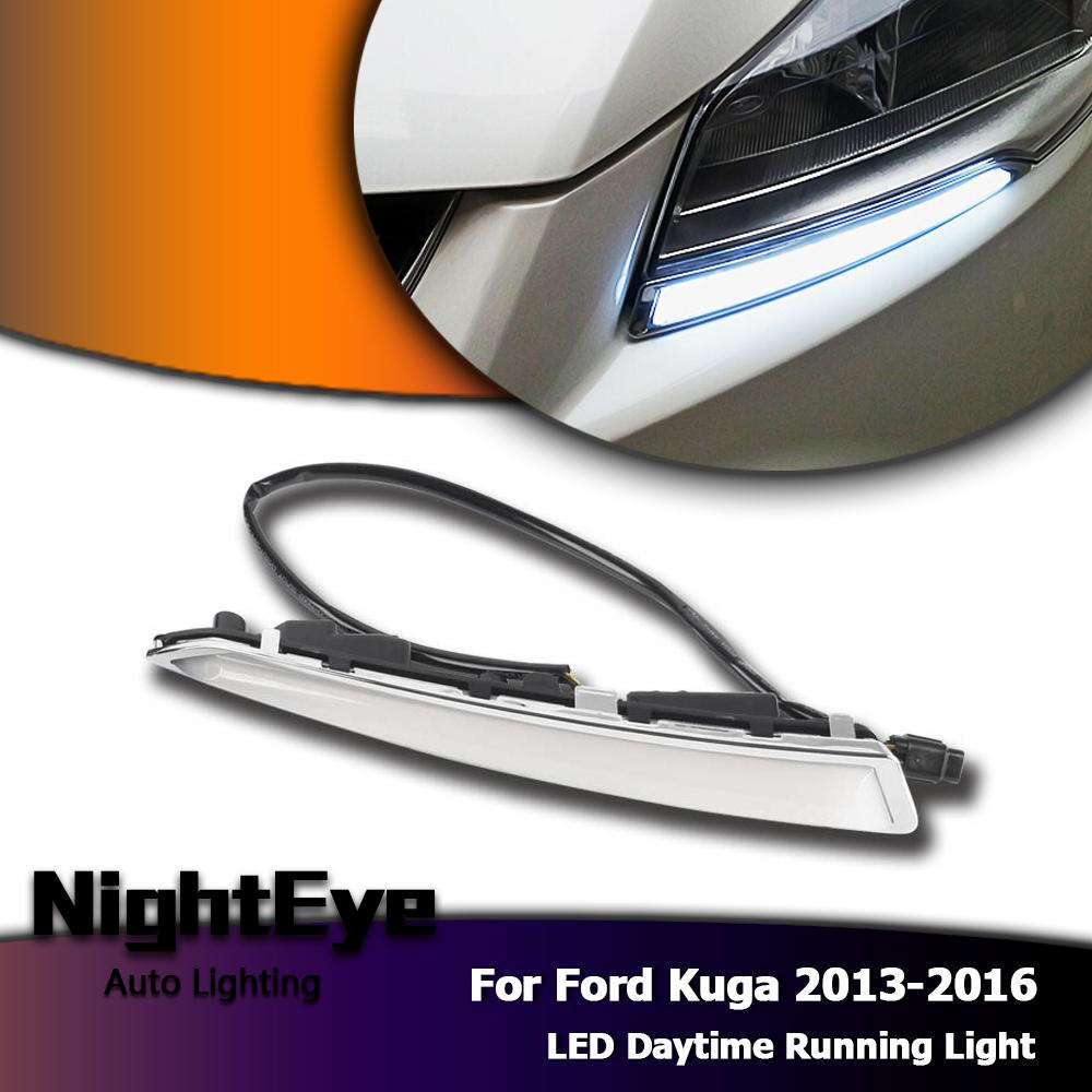 2pcs White Led Daytime Running Light Drl Fog Lamp For Mazda 6 2005 2008: Pair LED DRL Daytime Running Light Fog Lamp Turn Signal For Ford Kuga 2013-2016