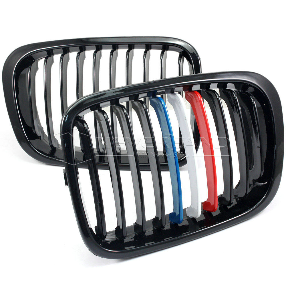 2pcs Gloss Black Front Bumper Grille M Sport For Bmw E46 4 Dr 3 Series 1998 2001 Ebay