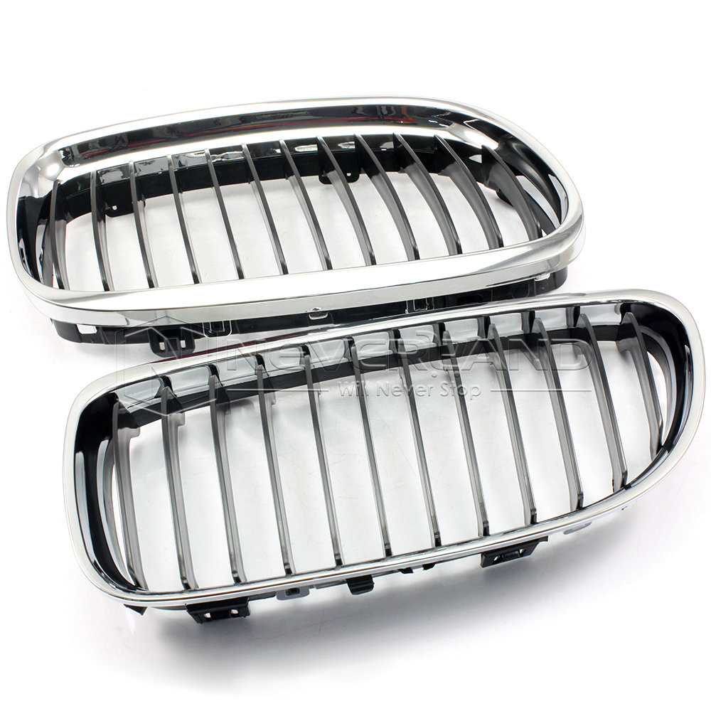 2x chrome front bumper grilles grill for 2008