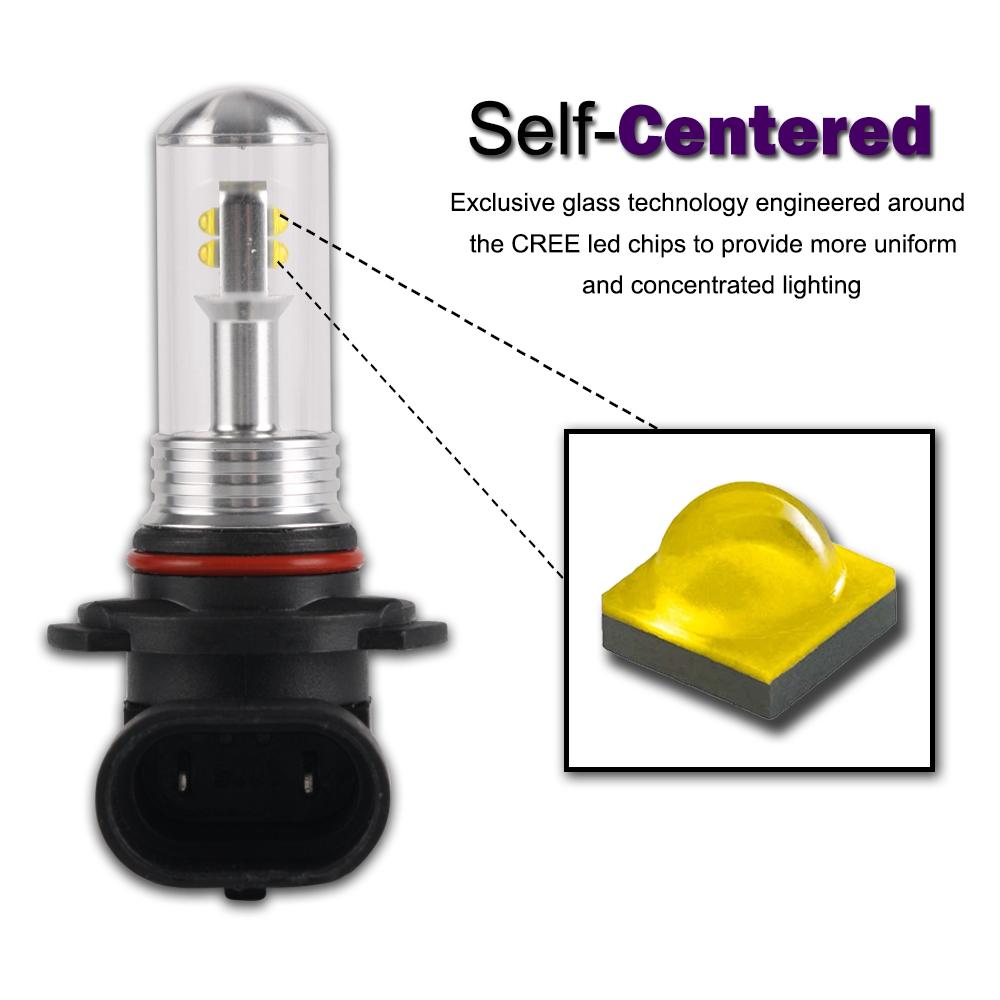 Nighteye 9005 Hb3 80w Led Fog Tail Light Bulbs Headlight Car Driving Lamp Ebay