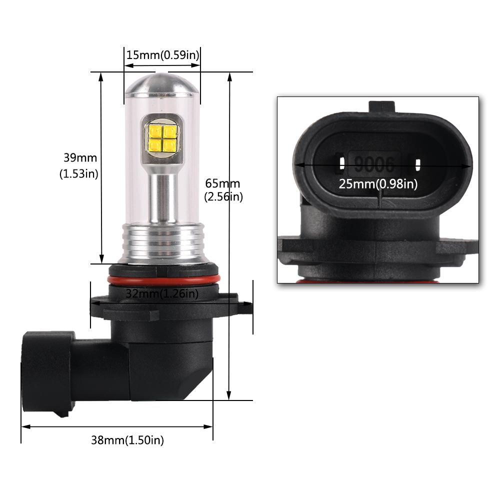 9006 hb4 led fog light bulbs driving lamp drl 80w 1500lm super bright. Black Bedroom Furniture Sets. Home Design Ideas