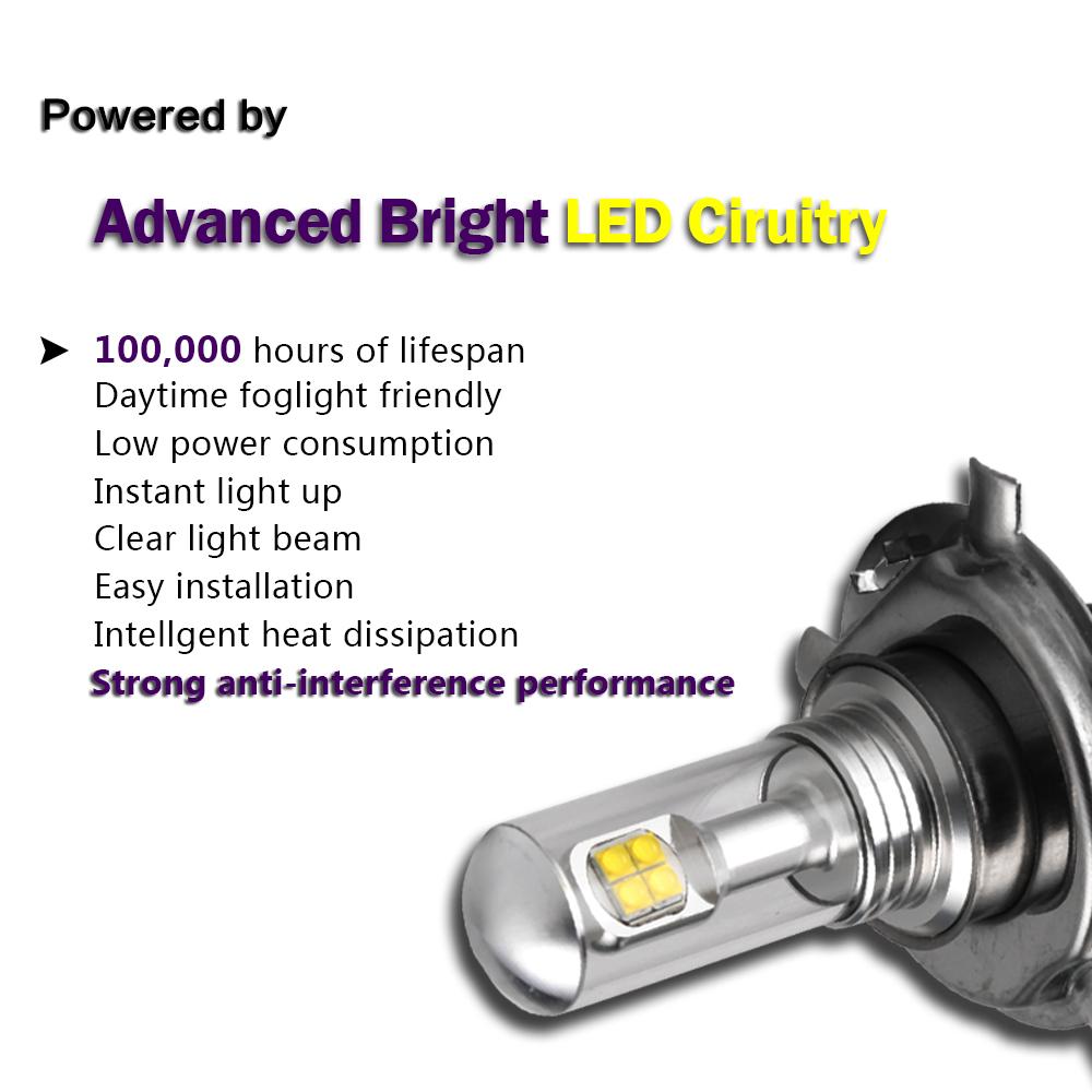 nighteye 1500lm 6000k 80w led h4 9003 hb2 lampe ampoule feu anti brouillard ebay. Black Bedroom Furniture Sets. Home Design Ideas
