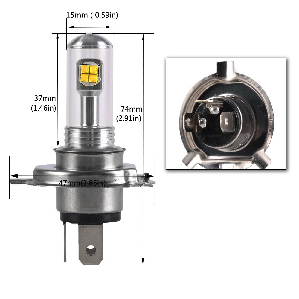 nighteye h4 9003 hb2 80w led fog tail light bulbs daytime. Black Bedroom Furniture Sets. Home Design Ideas
