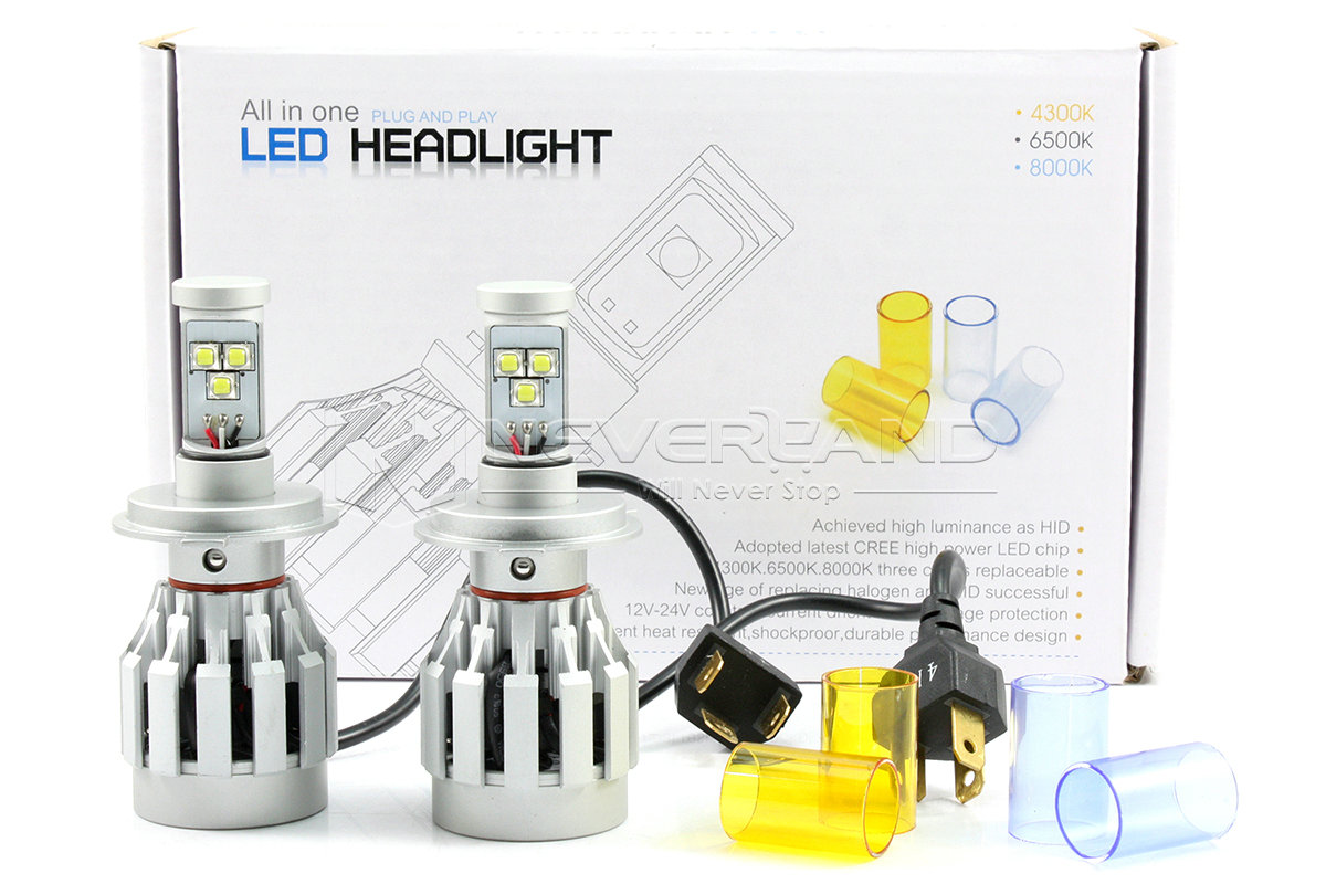 2x h4 led 40w cree 6000lm headlight lamp hi low kit globe. Black Bedroom Furniture Sets. Home Design Ideas