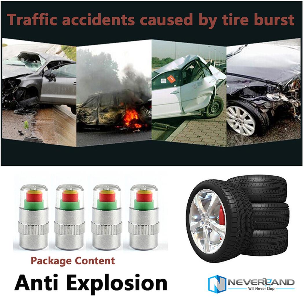4pcs car tire air pressure monitor valve cap sensor for Ebay motors parts tires
