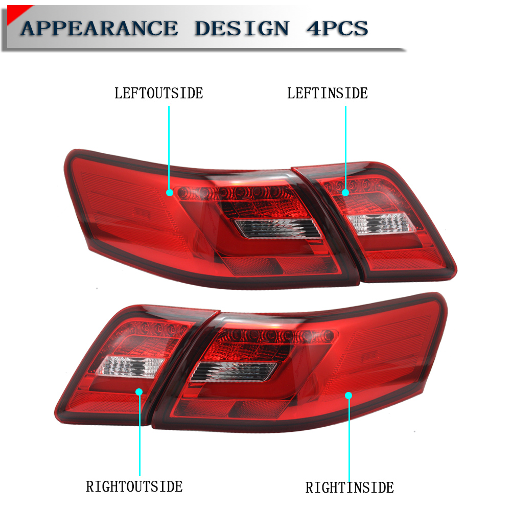 car led tail brake turn signal reversing light for toyota camry 2006 2007 2008 ebay. Black Bedroom Furniture Sets. Home Design Ideas