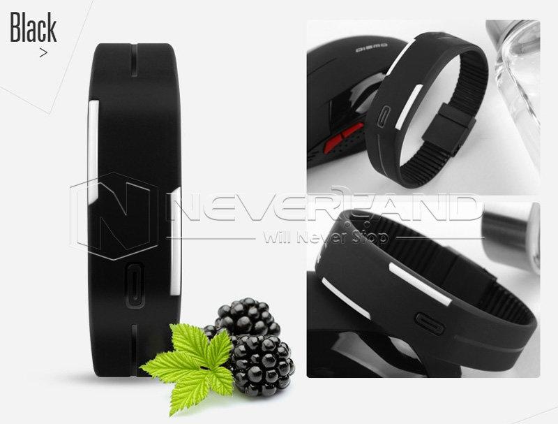 Men Women Unisex Rubber Silicone LED Sport Bracelet Digital Wrist Watch Thin Hot