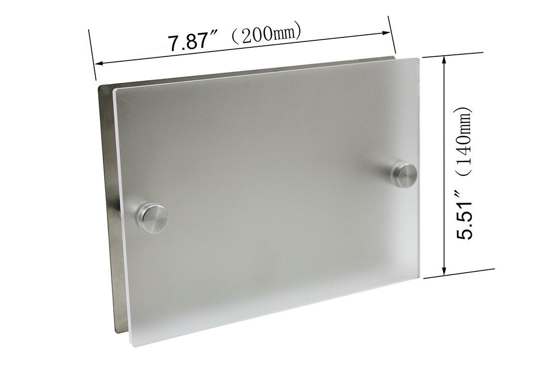 house sign door number street address plaque matte glass. Black Bedroom Furniture Sets. Home Design Ideas
