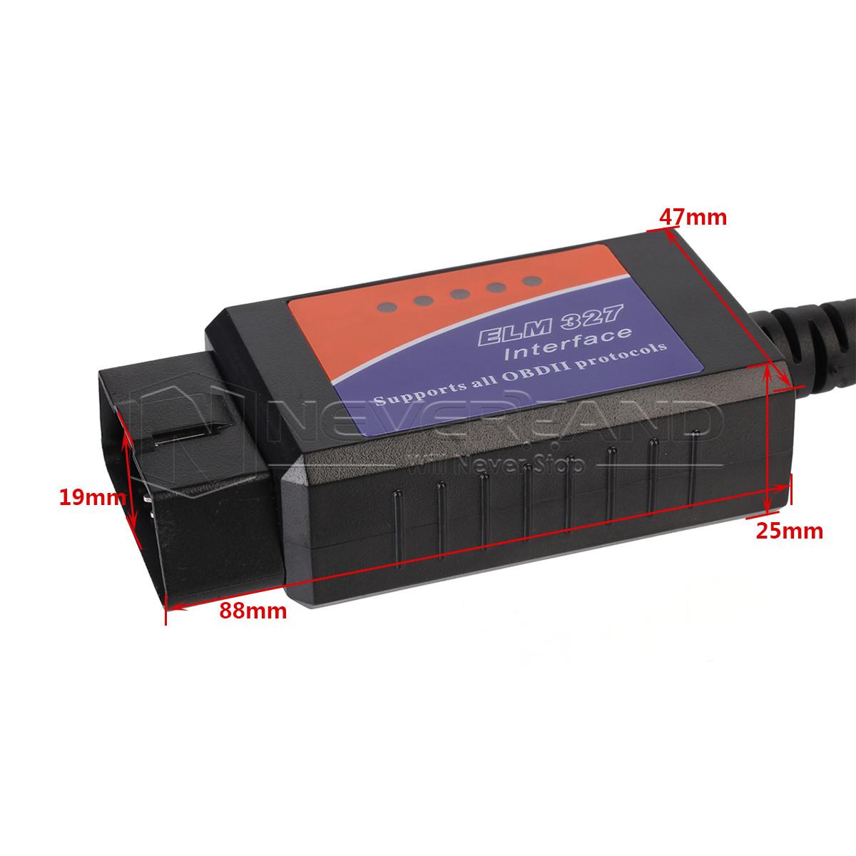 elm327 usb interface obdii obd2 diagnostic car code scanner wired cd driver ebay. Black Bedroom Furniture Sets. Home Design Ideas