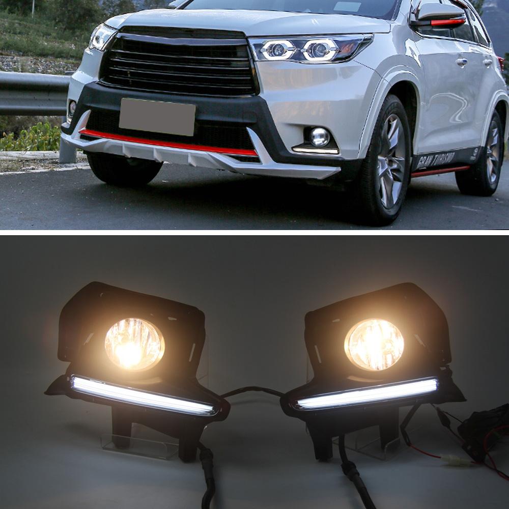 Led Drl Daytime Running Light Fog Lamp White For Toyota
